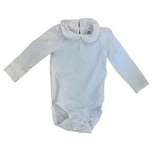 3/$15 H&M White Long Sleeved Onesie/Bodysuit Baby Size 4-6 M